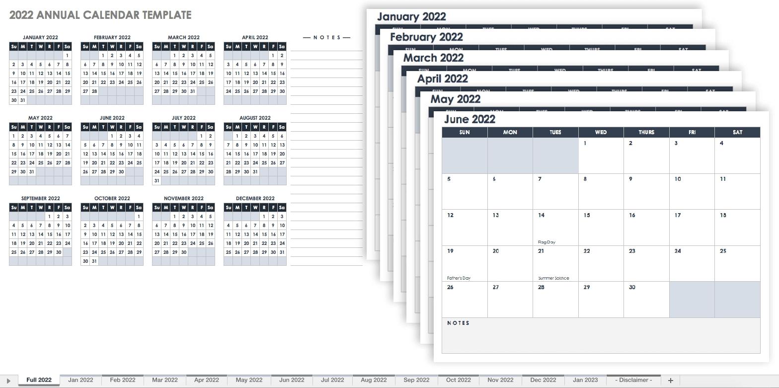 15 Free Monthly Calendar Templates | Smartsheet