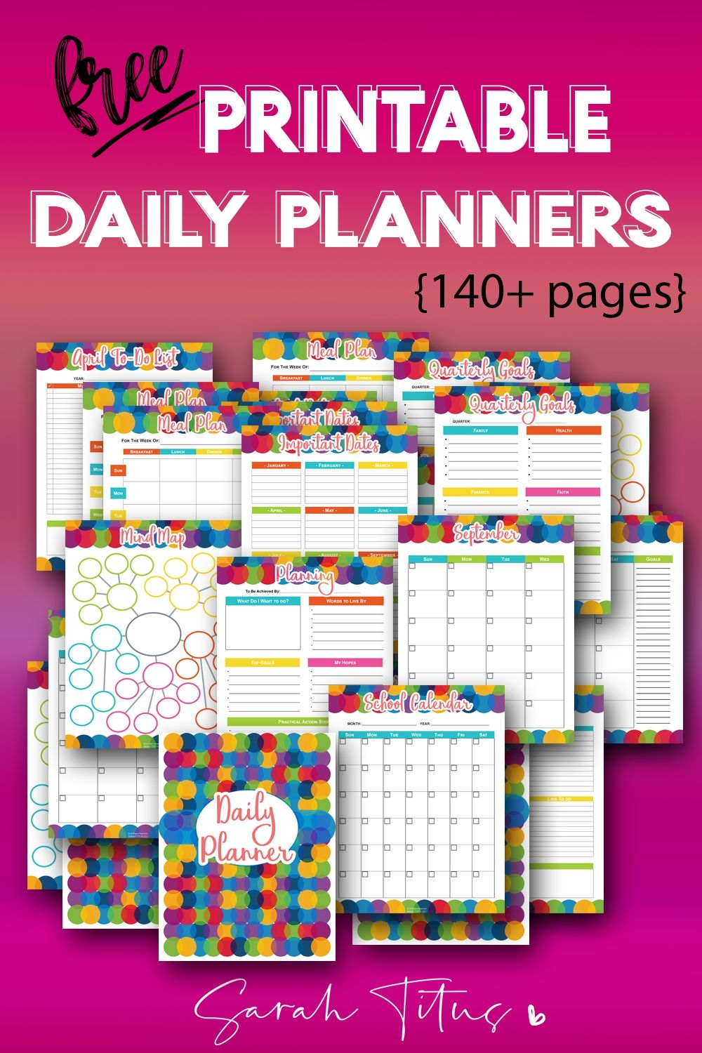 150 free printable daily planner templates that will save