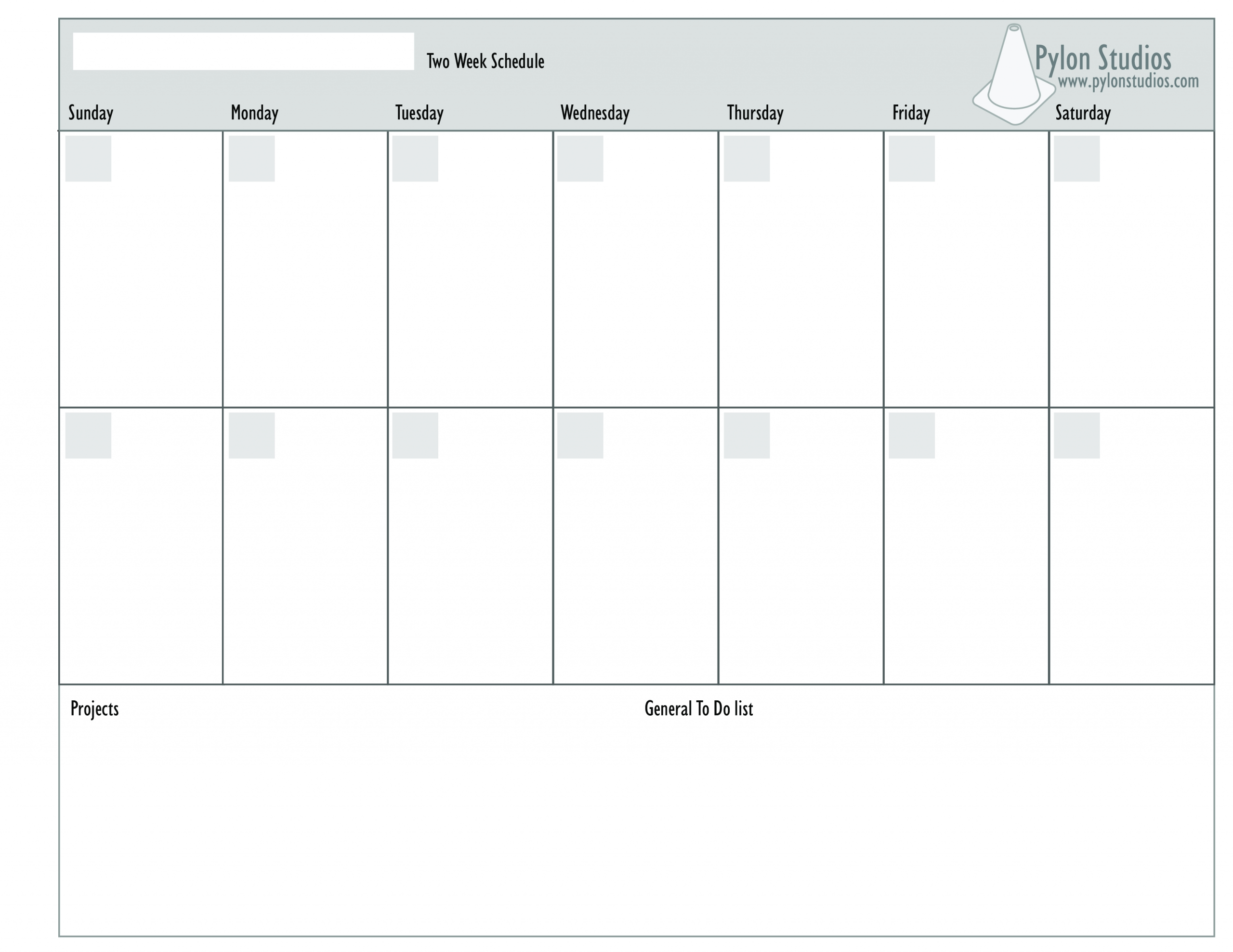 2 Week Calendar How To Create A 2 Week Calendar? Download
