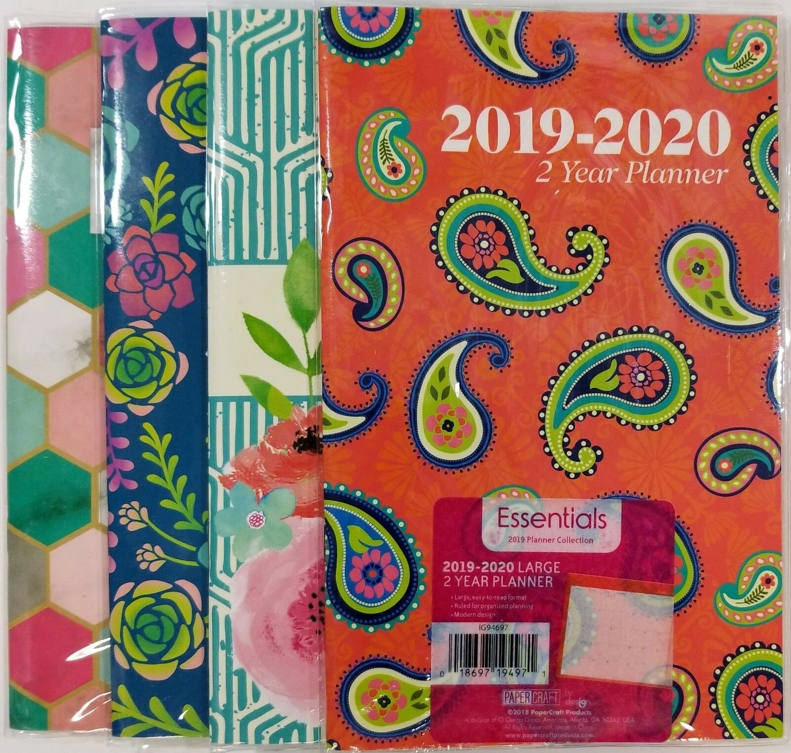 "2019 2020 two year monthly planner calendar 5"" x 8"" colors may vary"