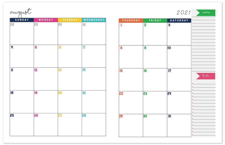 2020 2021 Monthly Calendar Planner | Free Printable Calendar