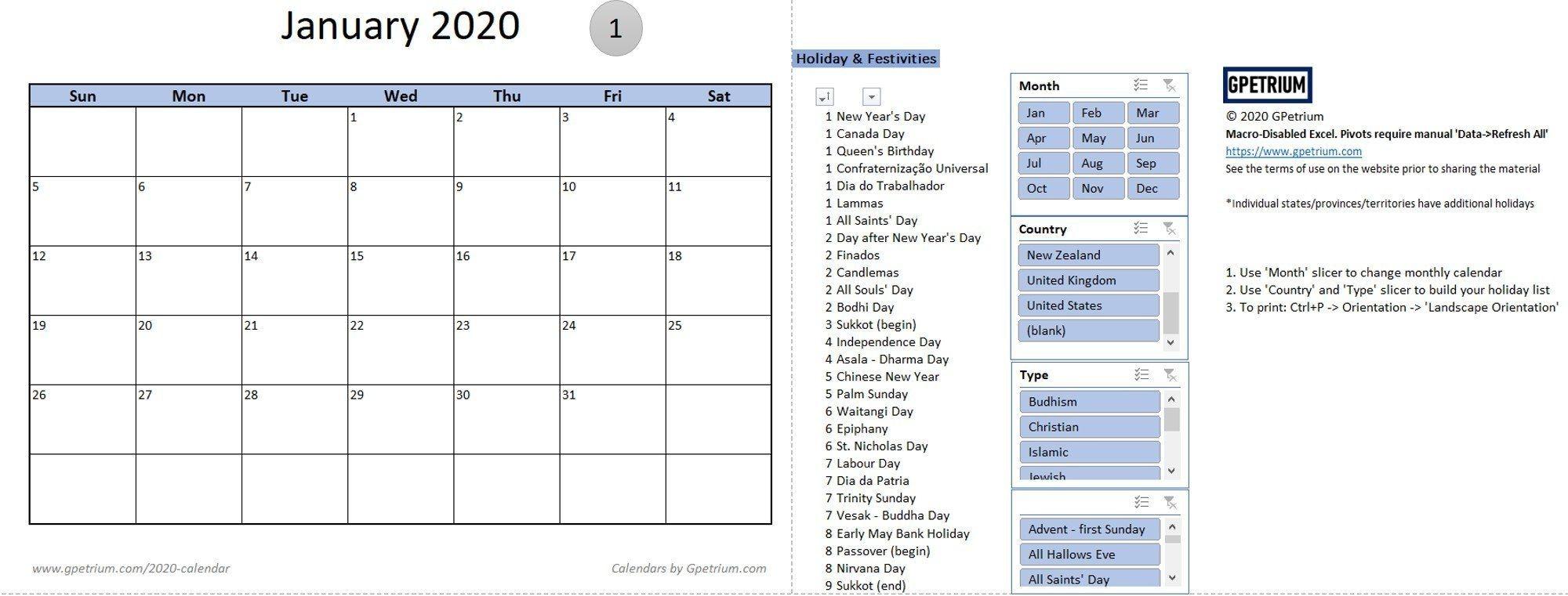 2020 calendar templates – gpetrium
