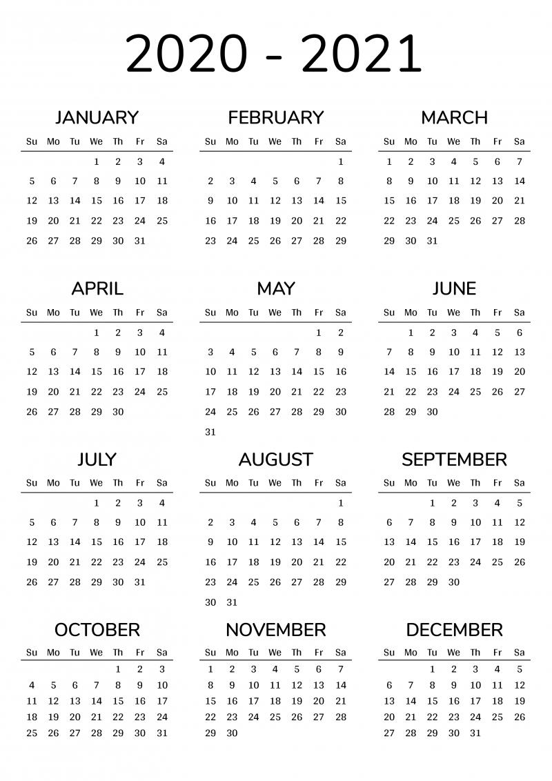 2021 2022 printable calendar for 2 years
