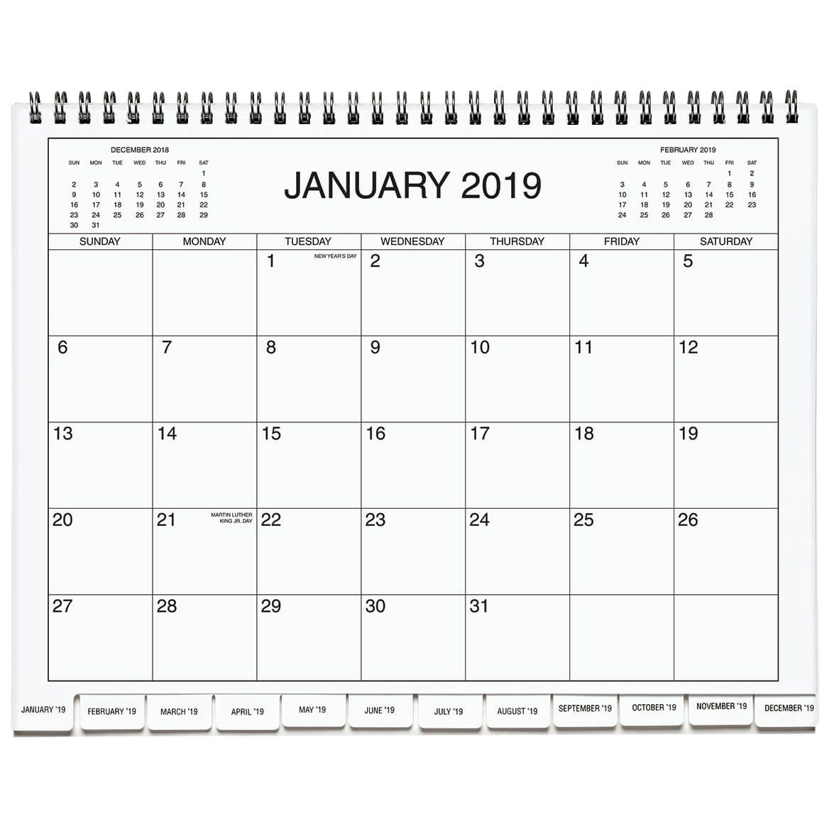 5 Year Appointment Calendar, Pages With Divider Tabs, 8 5 In X 11 In , Spiral Bound Month By Month Calendar