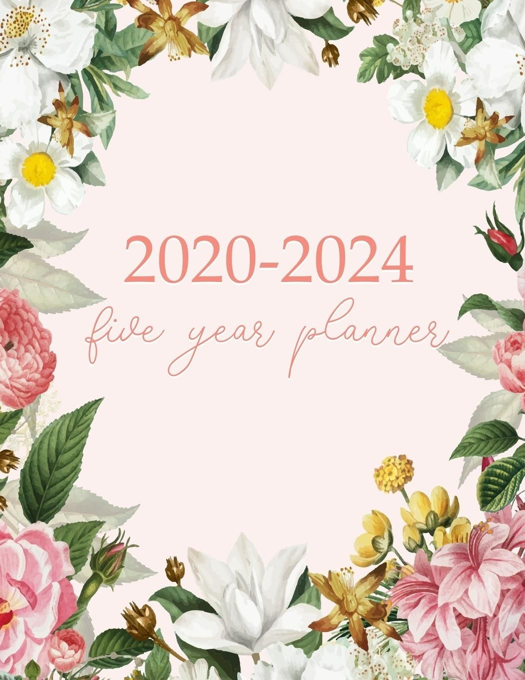 5 year monthly agenda 2020, 2021, 2022, 2023, 2024 large size 8 5x11: 2020 2024 five year planner: monthly logbook and journal, 60 months calendar