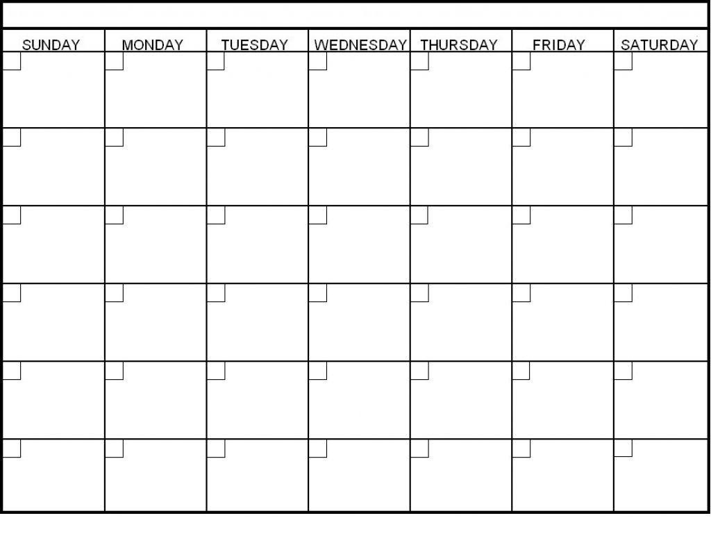 6 week printable calendar | blank calendar template
