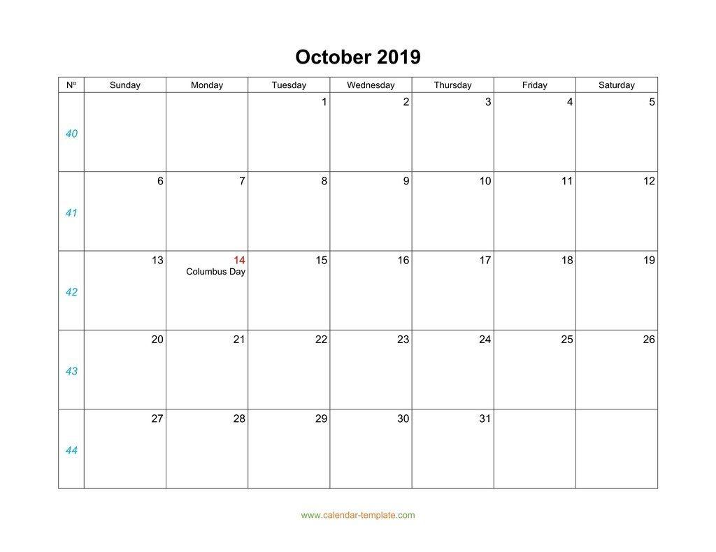 Blank 31 Day Calendar | Calendar For Planning