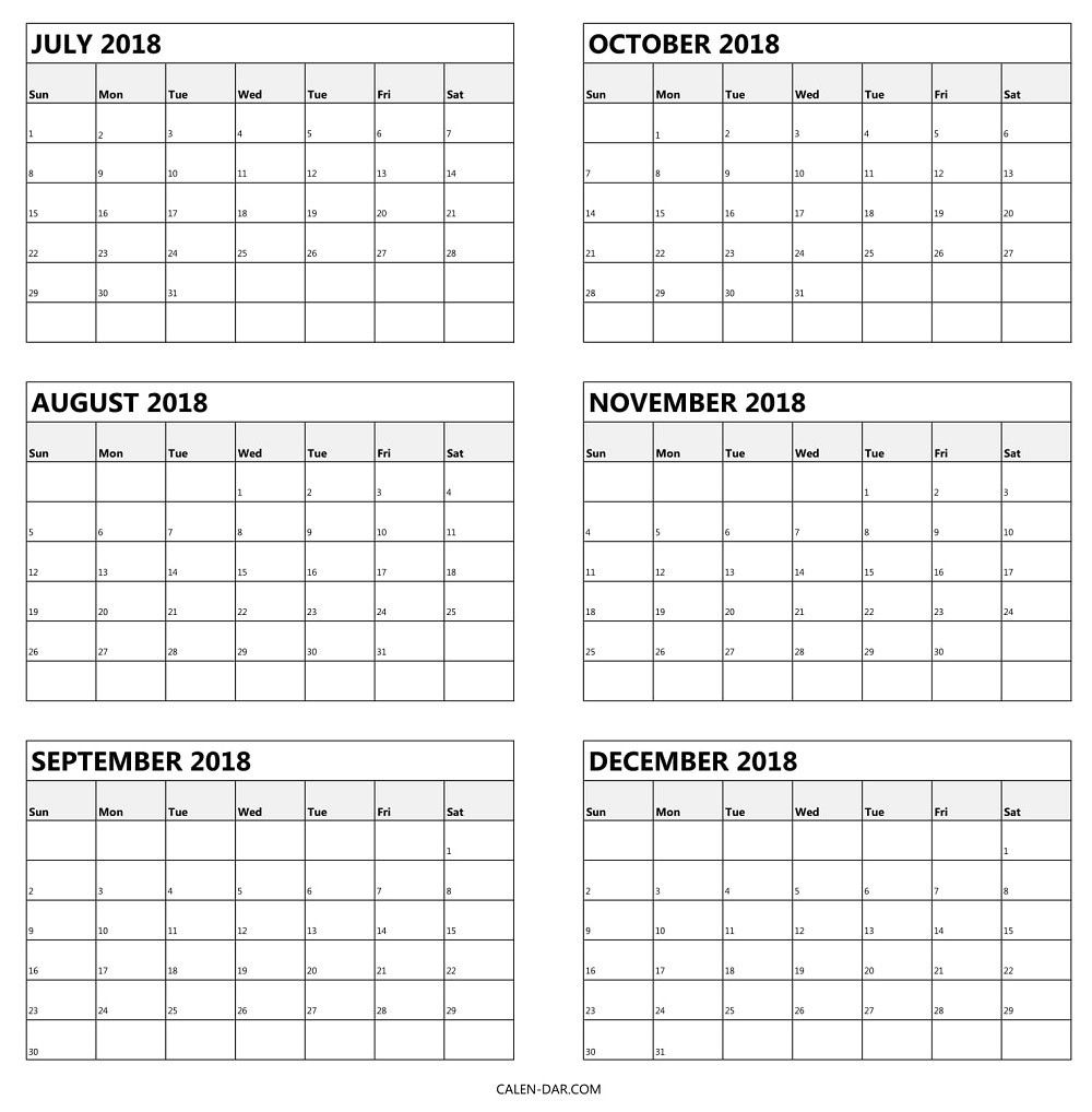 blank 6 month calendar | calendar for planning