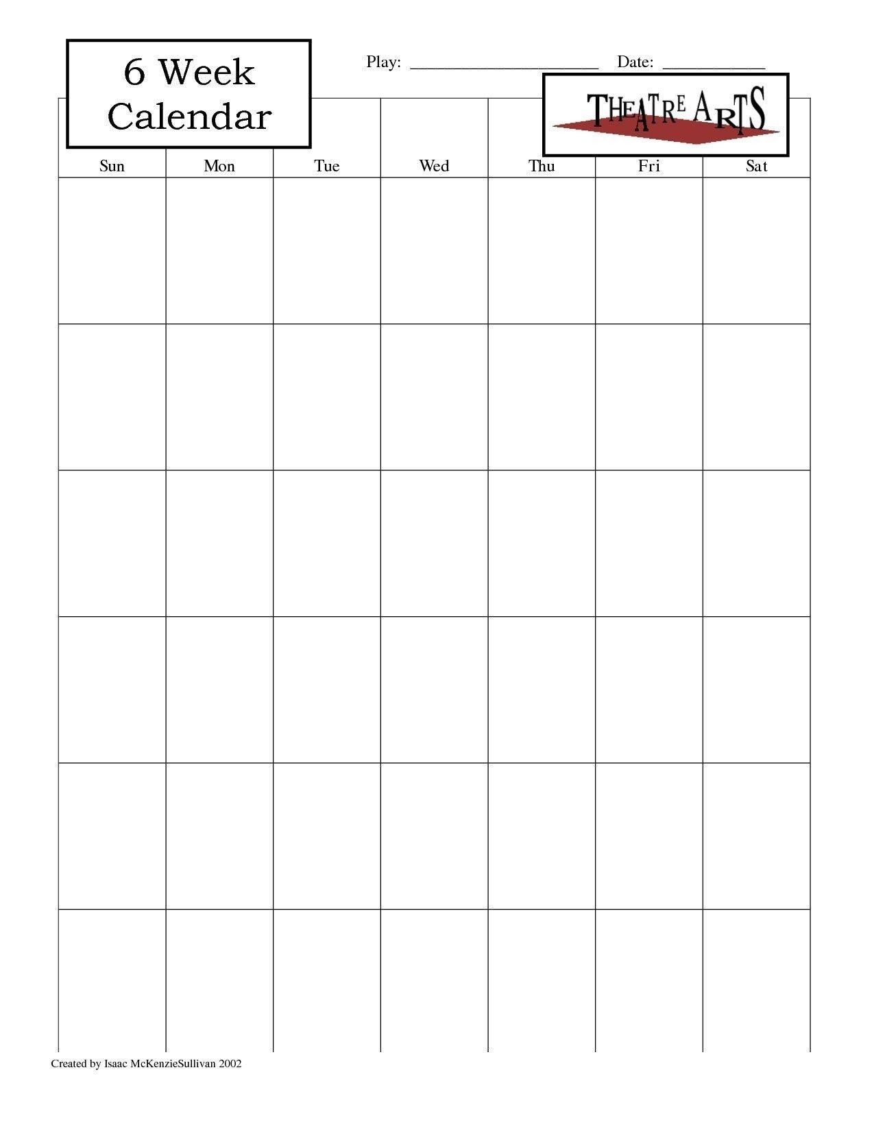 blank 6 week calendar | thekpark hadong dowload | daily