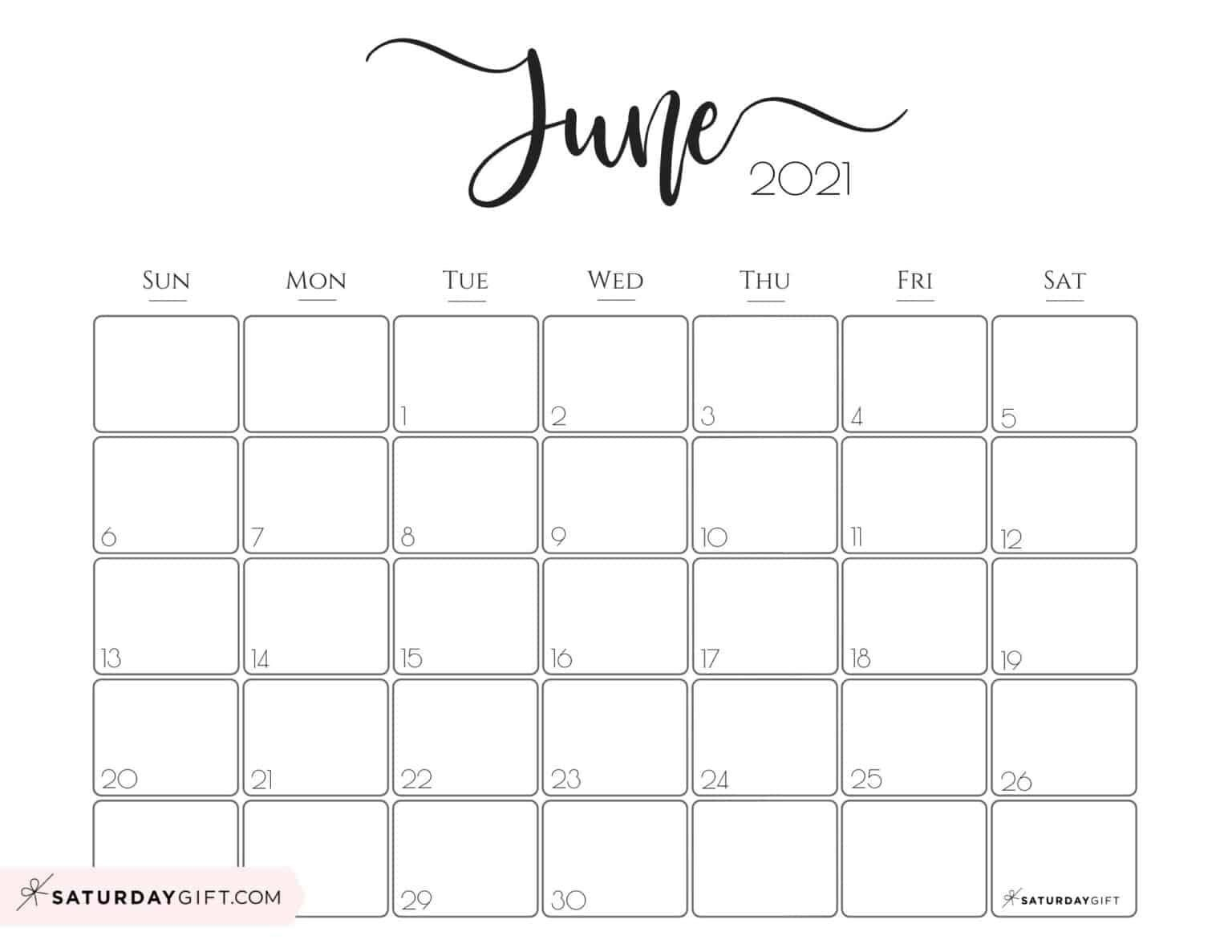 Elegant 2021 Calendarsaturdaygift Pretty Printable