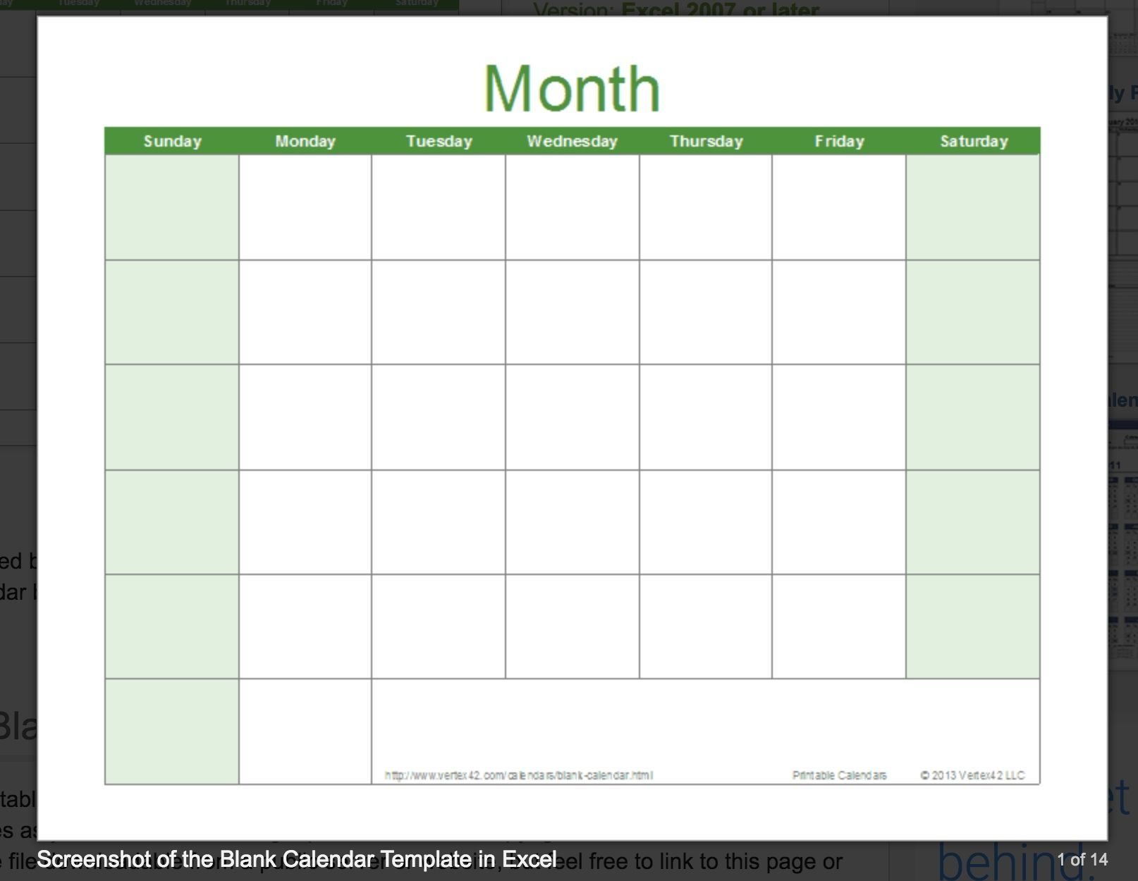 Exceptional Blank Calendar You Can Type In | Excel Calendar