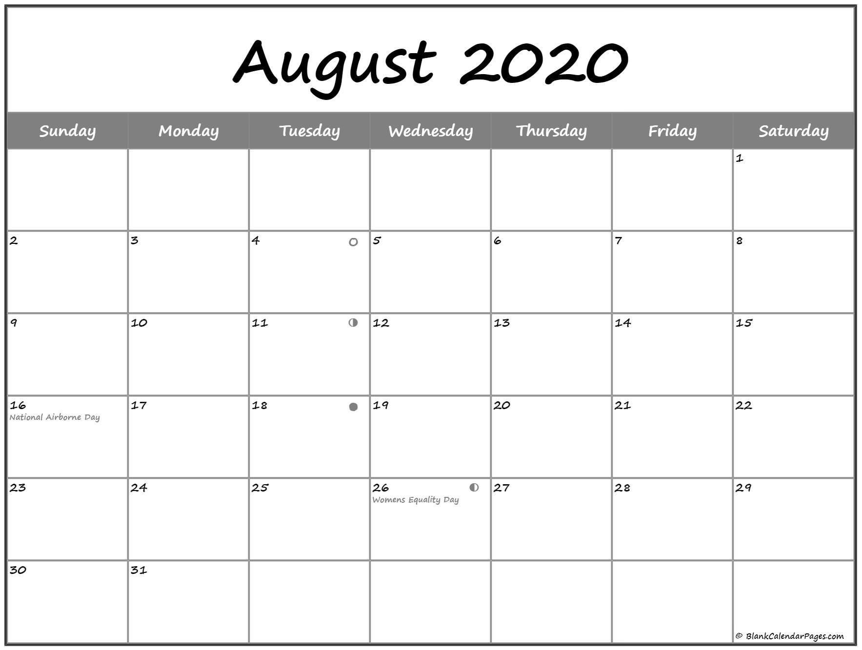 extraordinary 2020 calendar with lunar dates | moon phase