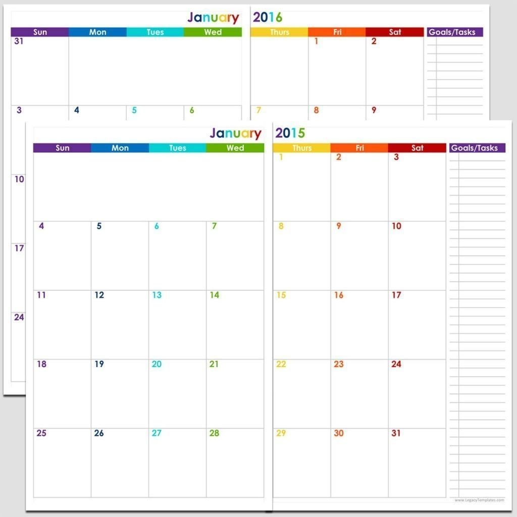 free 5 1/2 x 8 1/2 page daily calendar template editable