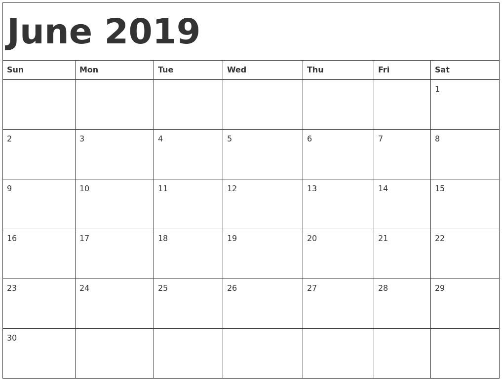 Free Printable Calendar That I Can Edit In 2020 | June