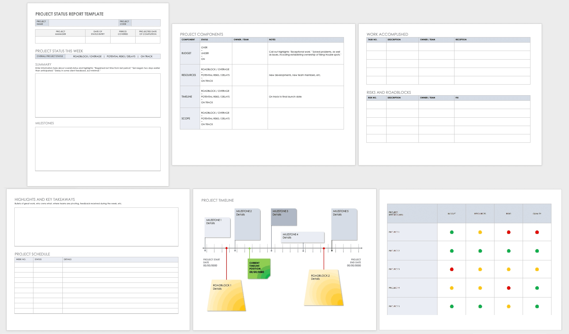 free project report templates | smartsheet