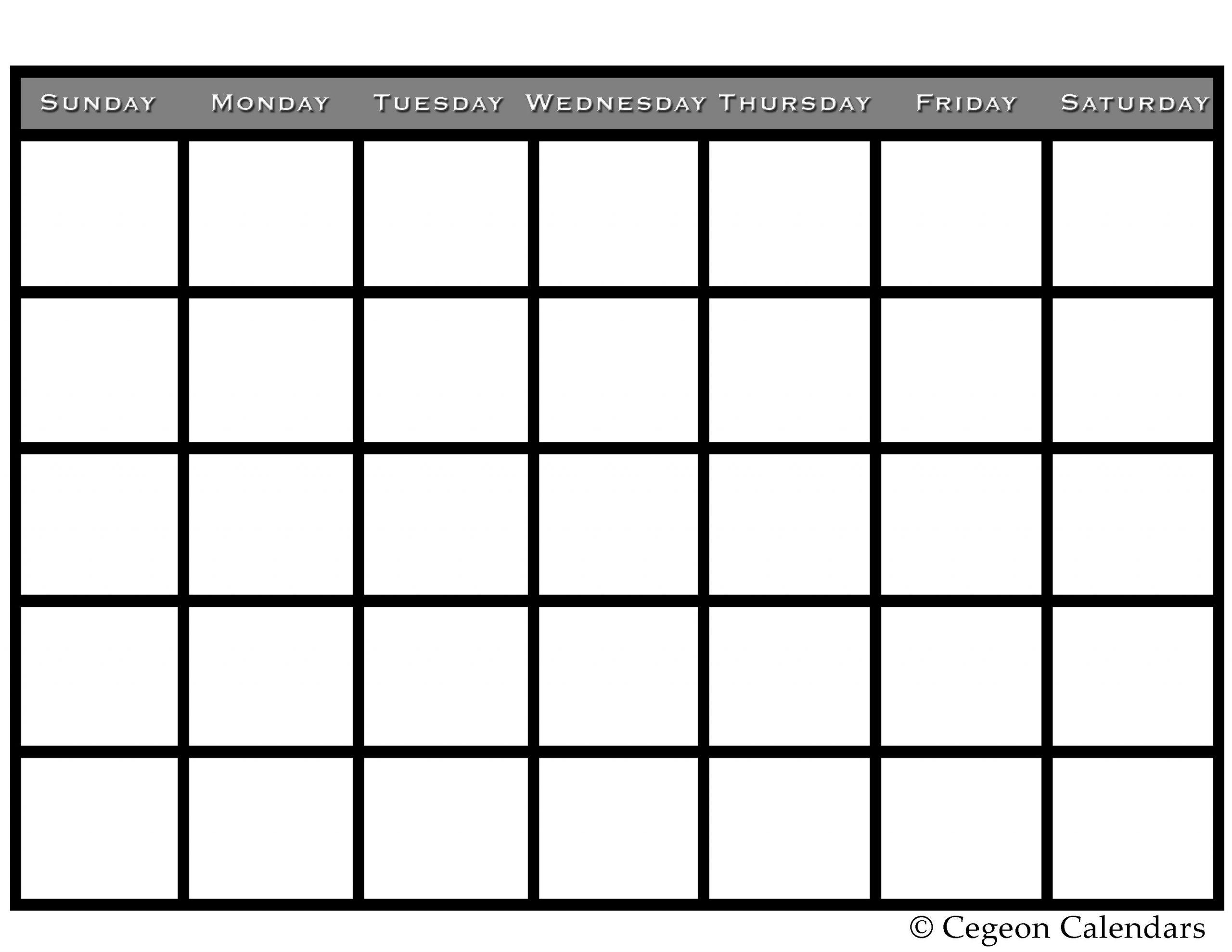 Get Your Free Printable Blank Calendar