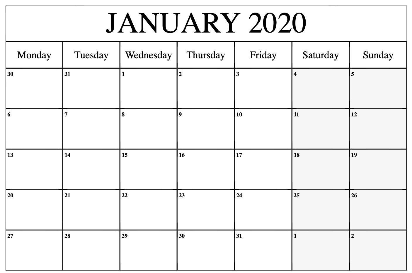 january to march 2021 calendar monday to friday | printable
