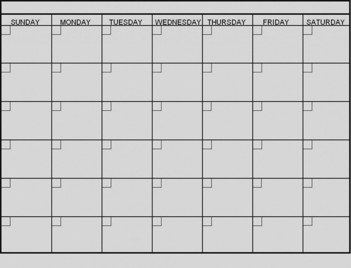 Latest Blank 6 Week Calendar Template Printable 2 Planner
