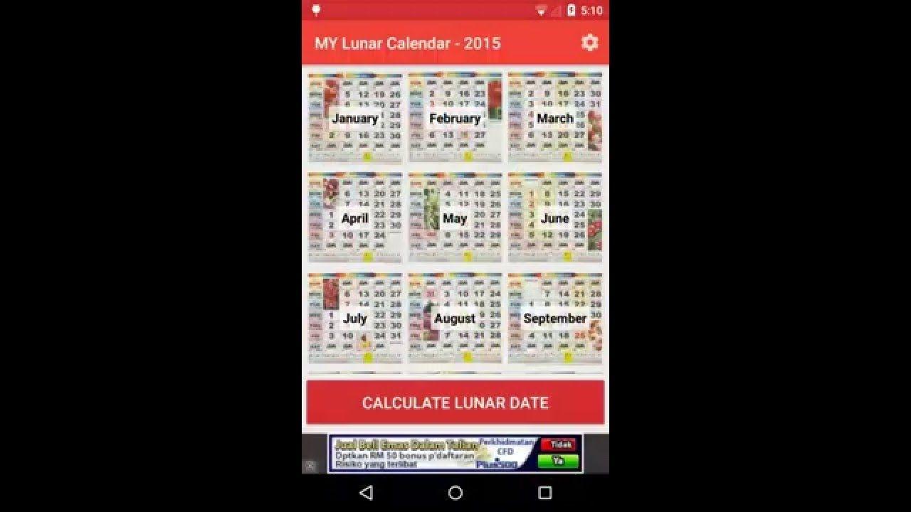 Malaysia Calendar 2016 Lunar V1 2 0