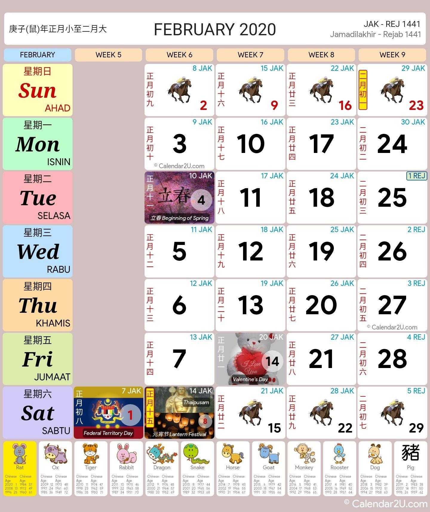 Malaysia Calendar Year 2020 (school Holiday) Malaysia Calendar