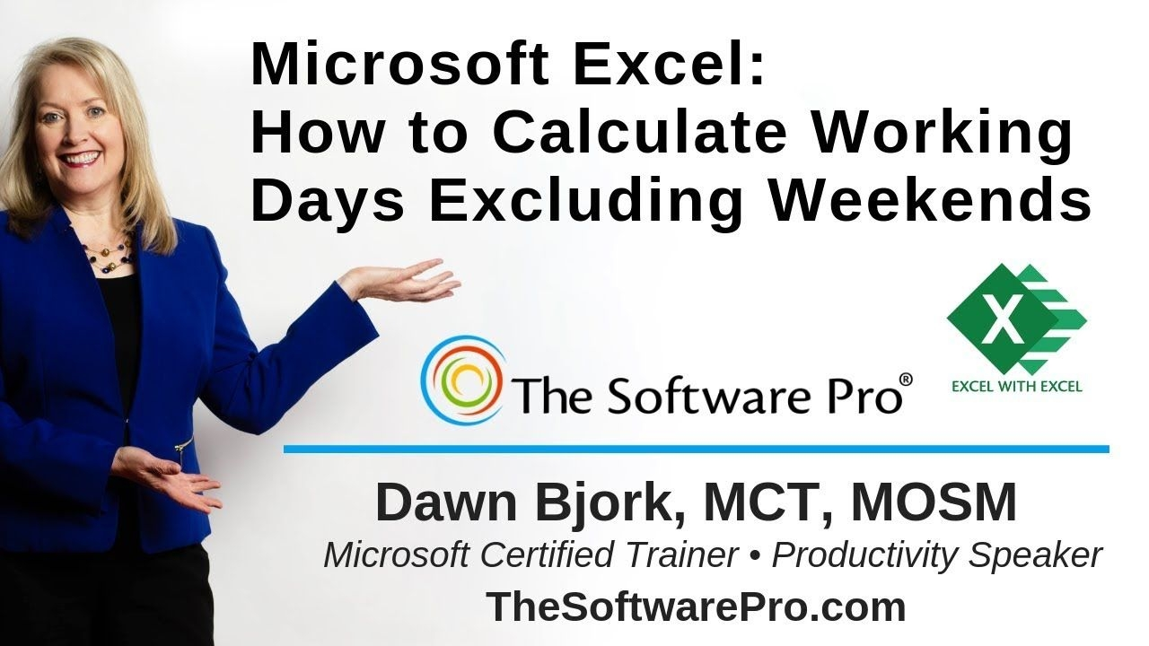 Microsoft Excel Date Calculations Without Weekends & Holidays