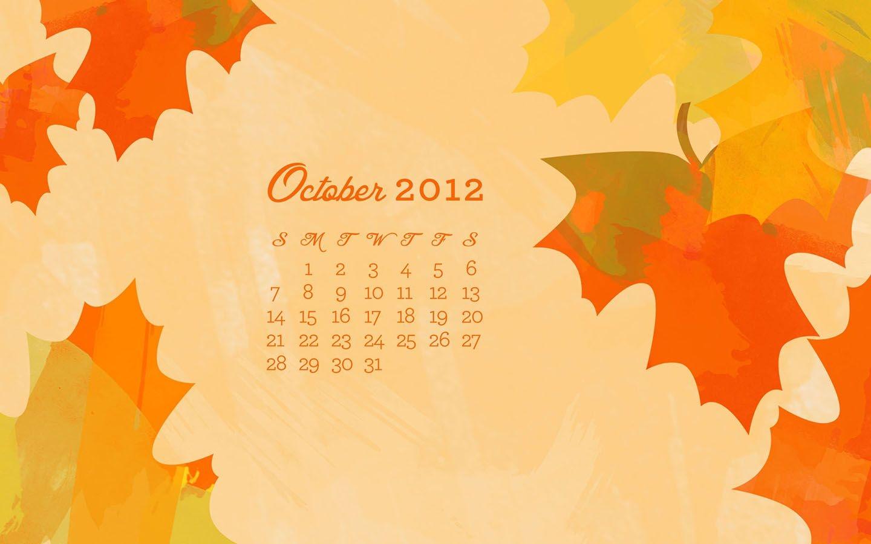 october 2012 desktop, iphone & ipad calendar wallpaper