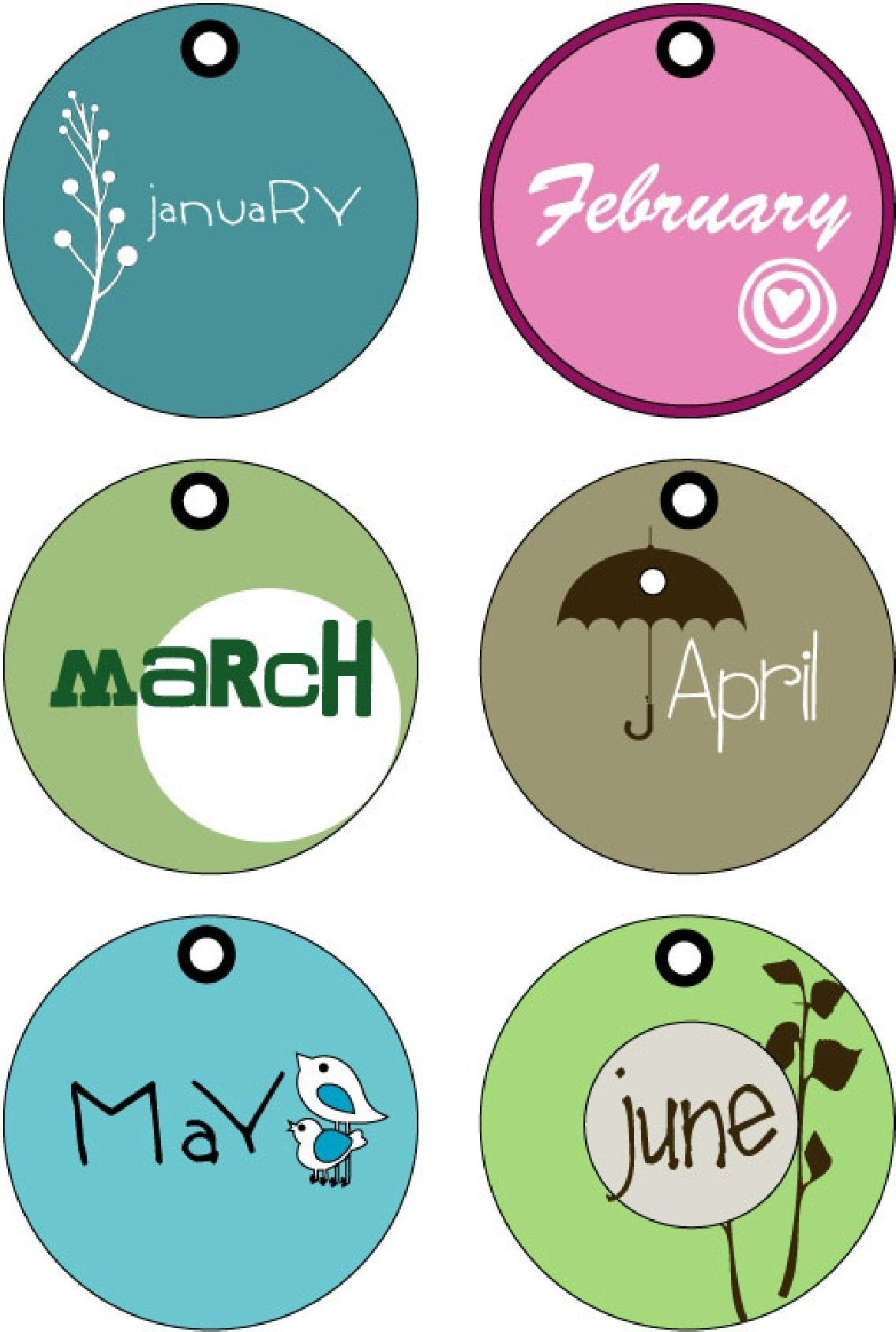 pinholly harris fales on random printables | months in a