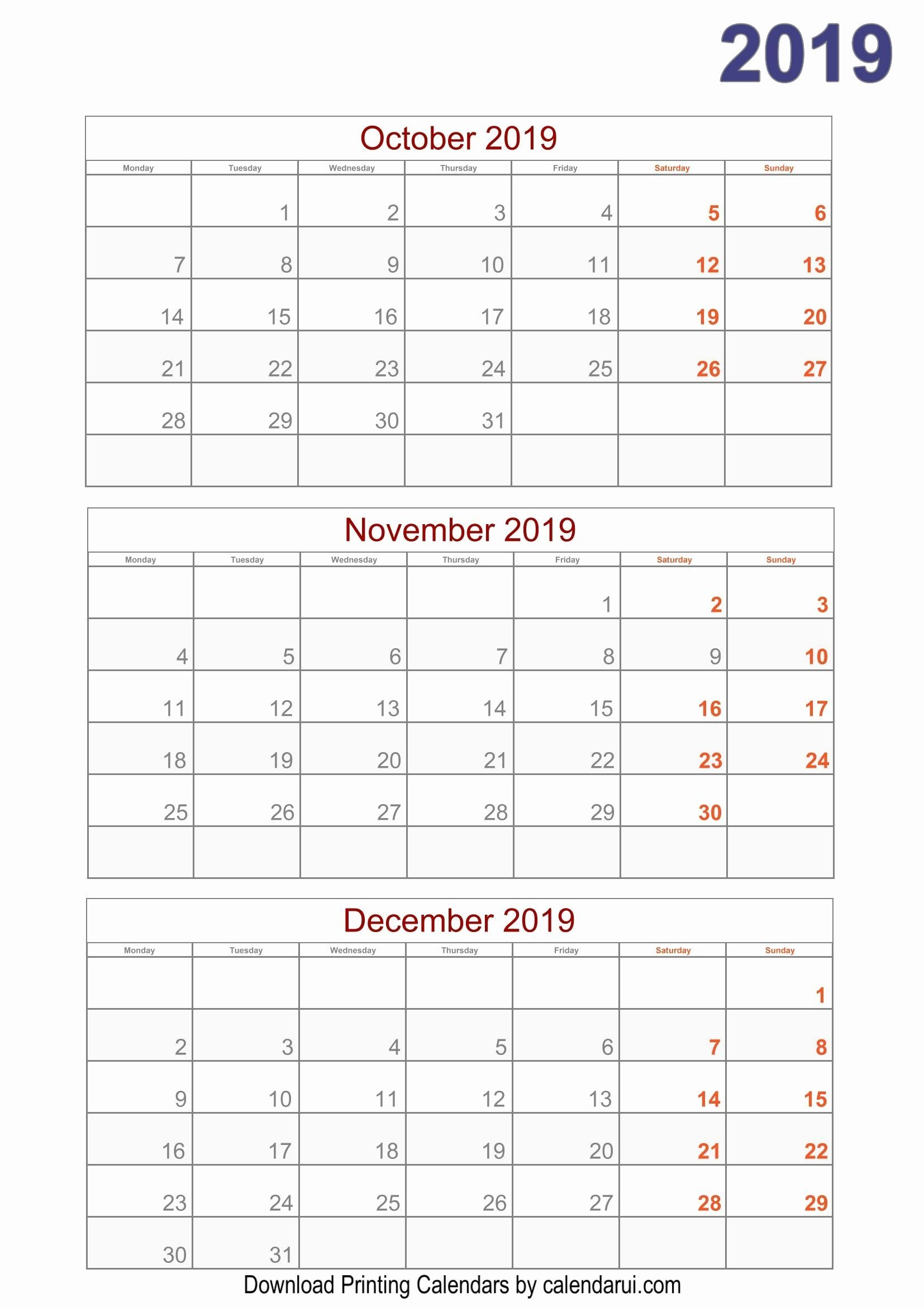 Printable Calendar I Can Type On | Quarterly Calendar