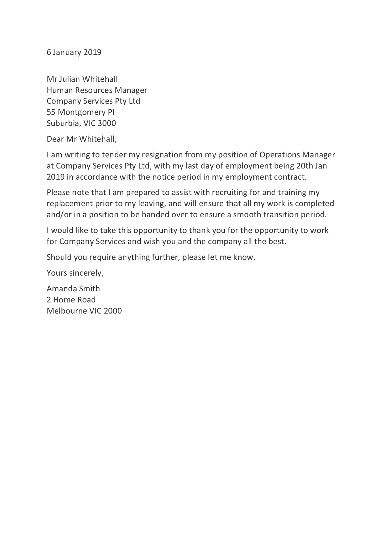 resignation letter templates: how to resign in 2020
