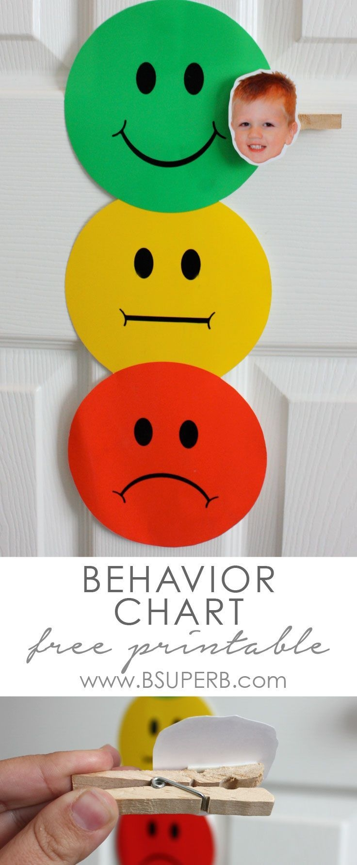 Toddler Behavior Chart B Superb | Behavior Chart