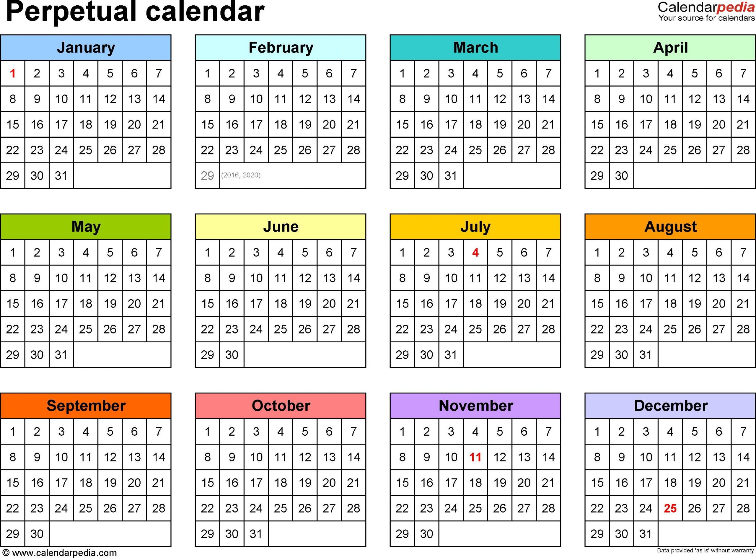 Year Monthly Calendar – Printable Week Calendar