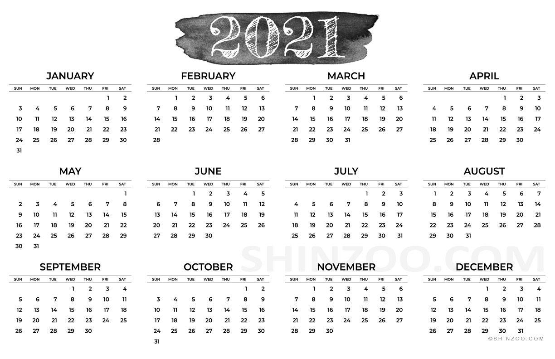 11×17 printable calendar 2021 | free 2021 printable calendars