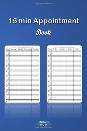 15 min appointment book: appointment scheduling book with