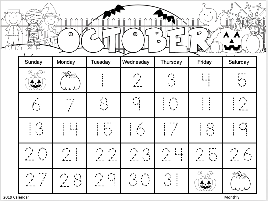 17 free calendars for 2019 to 2020 madeteachers