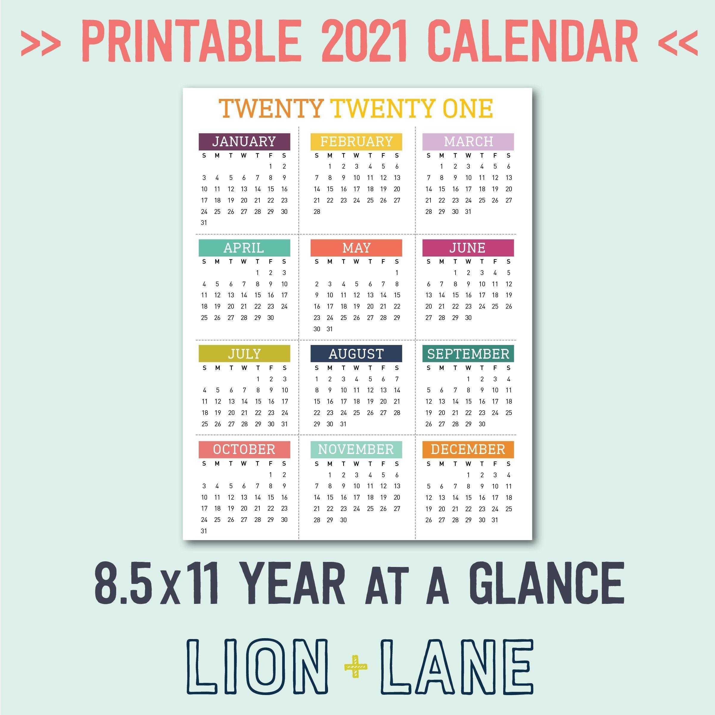 20 2021 calendar 8 5 x 11 free download printable