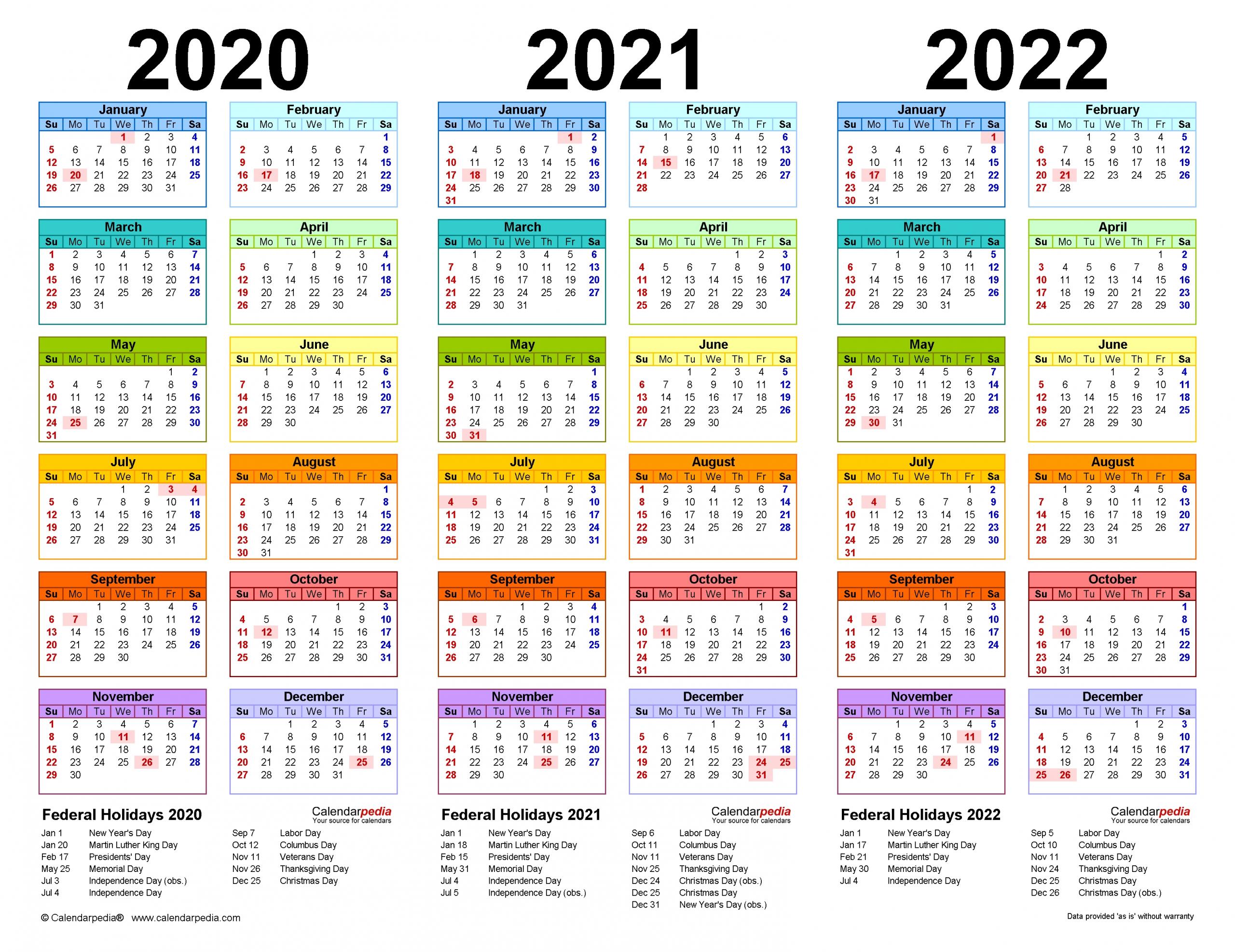 20 Large Print Calendar 2021 Canada Free Download