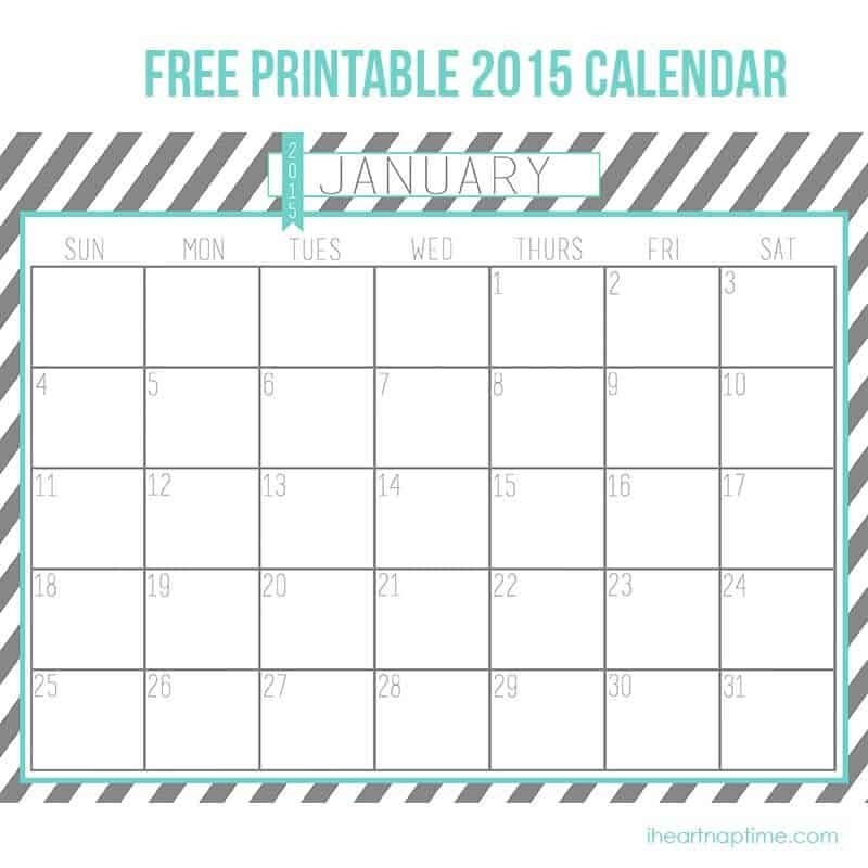 2015 free printable calendar i heart nap time