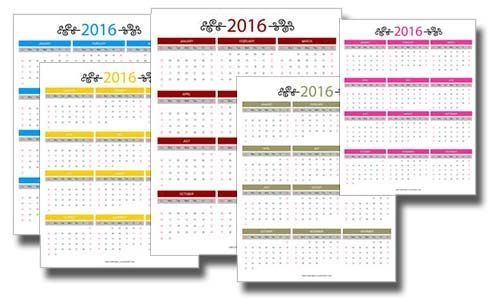 2016 free printable calendars make it easy to stay organized