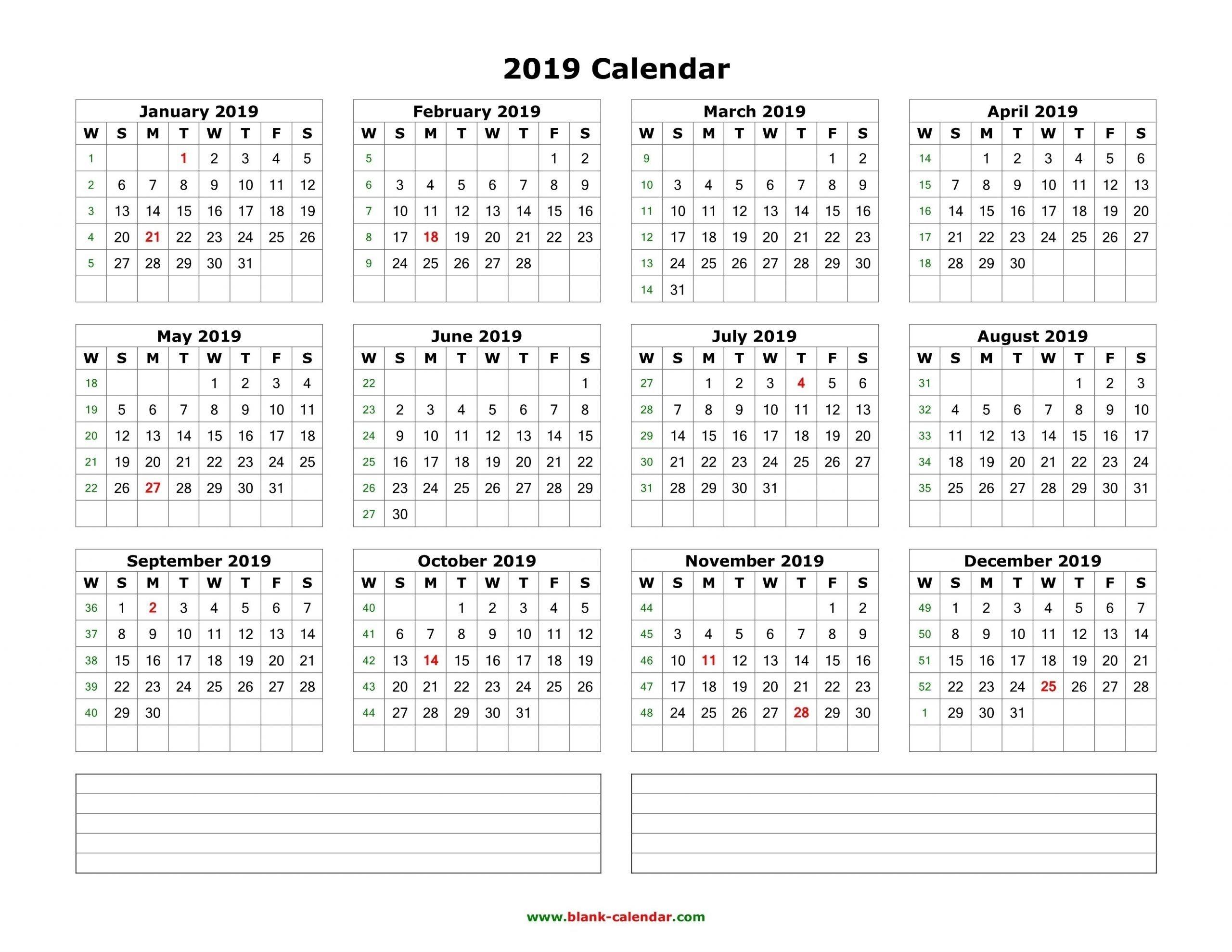 2019 2020 calendar space to write calendar inspiration