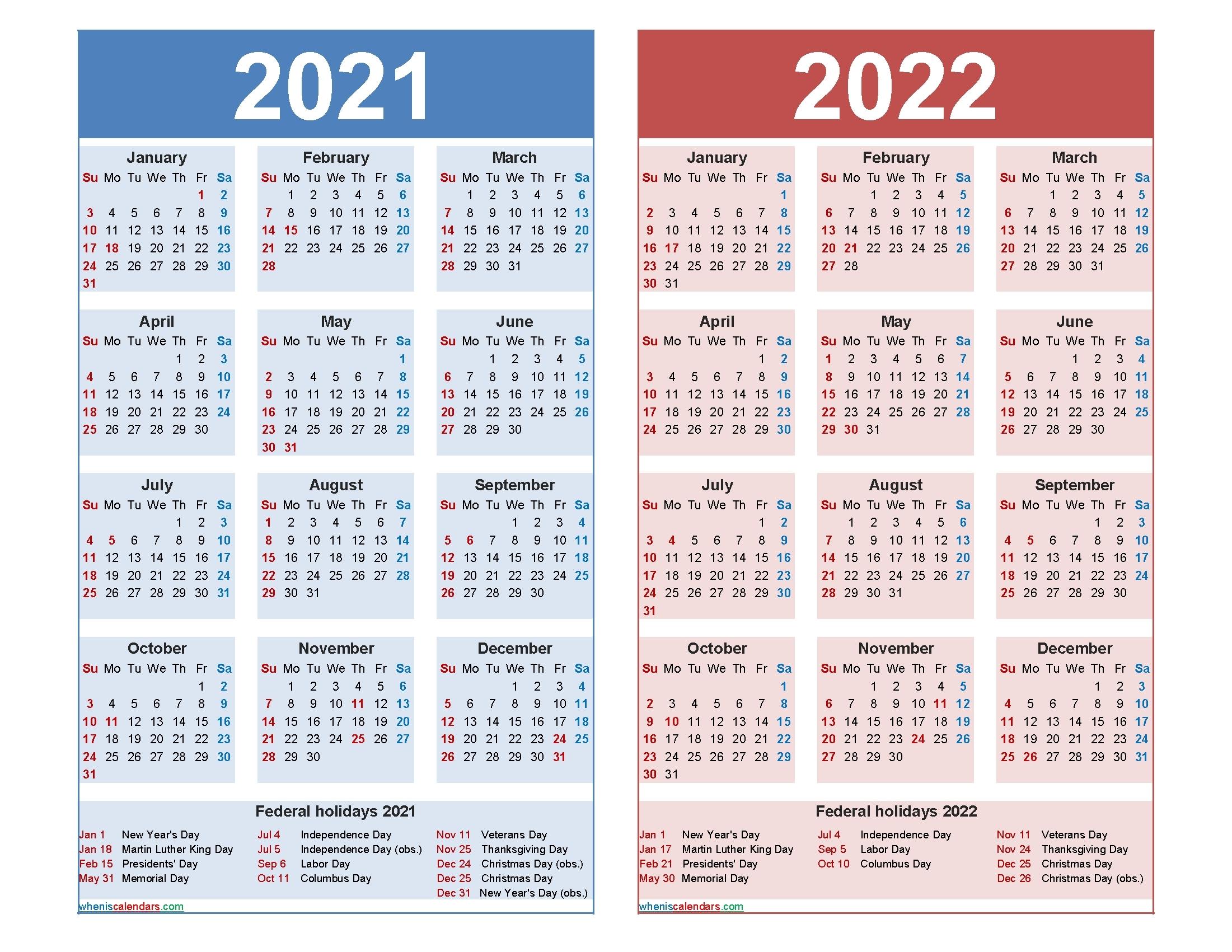 2020 2021 2022 Calendar Printable Calendar Inspiration