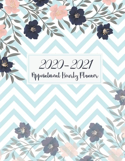 2020 2021 appointment hourly planner : zigzag flower cover