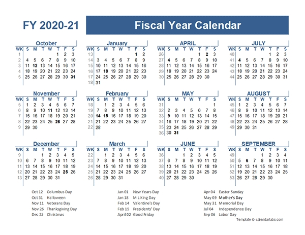 2020 2021 fiscal planner us free printable templates