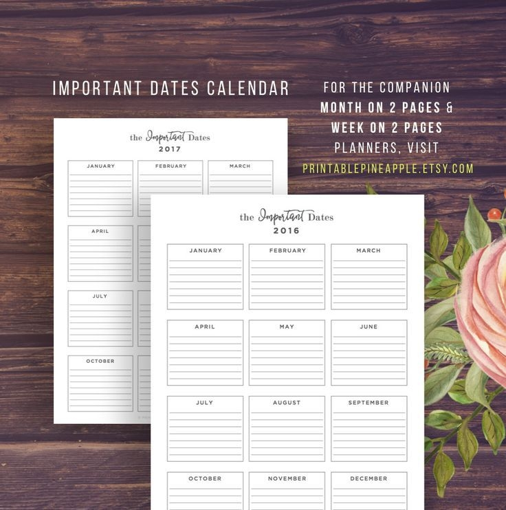 2020 2021 year at a glance, calendar printable, yearly