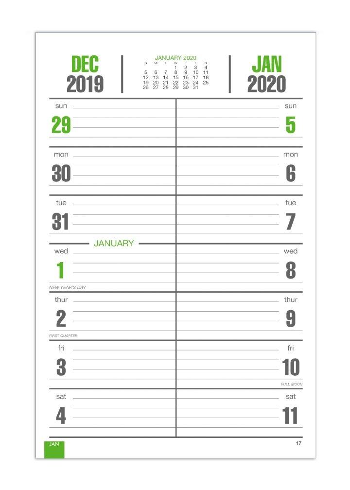 "2020 bi weekly memo board, image calendar   7"" x 13"