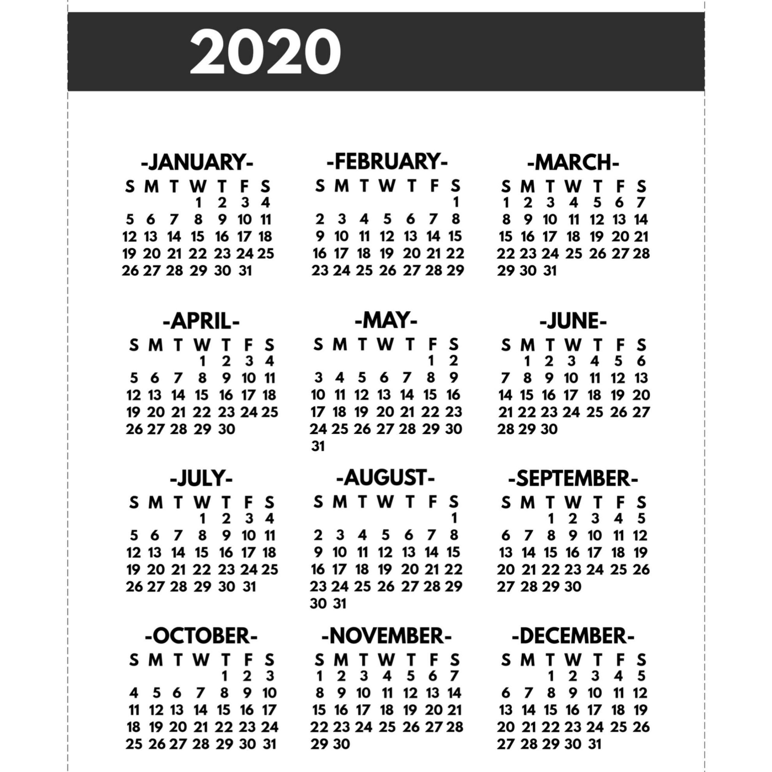 2020 calendar 8 5 x 11 | free printable calendar