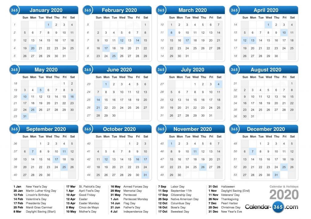 2020 day count calander calendar template 2021