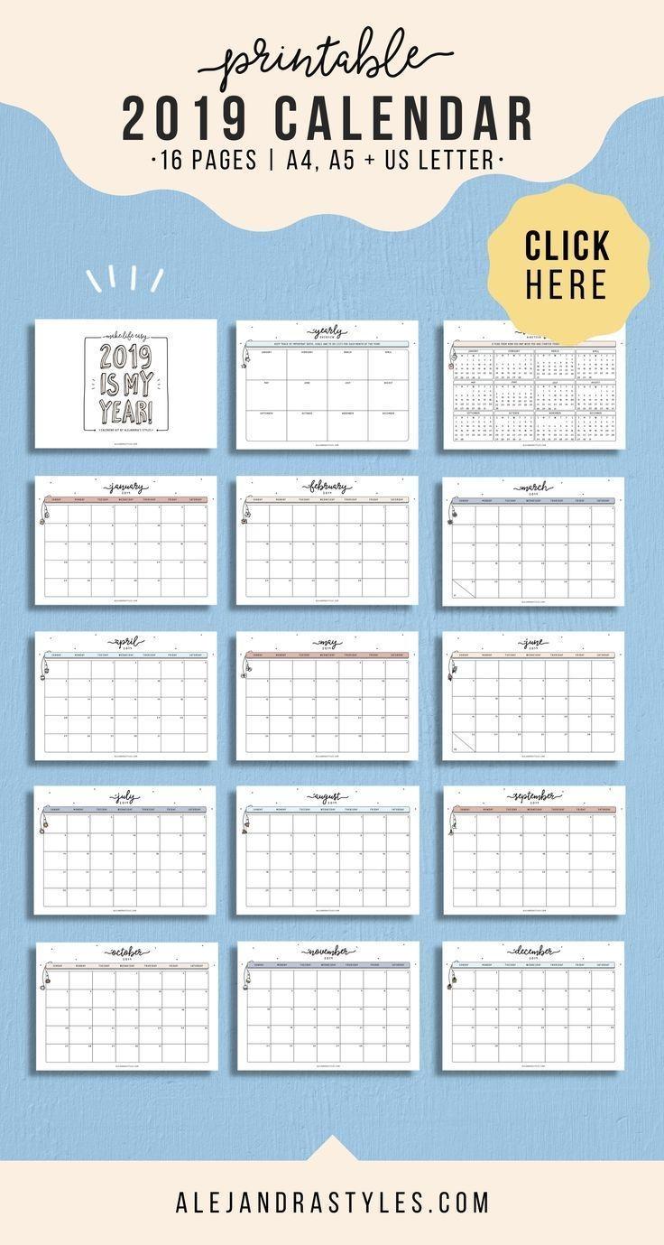 2020 Printable Calendar, Wall Calendar, Desk Calendar, 12