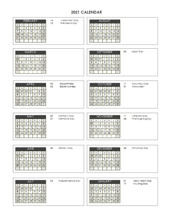 2021 accounting close calendar 4 4 5 free printable