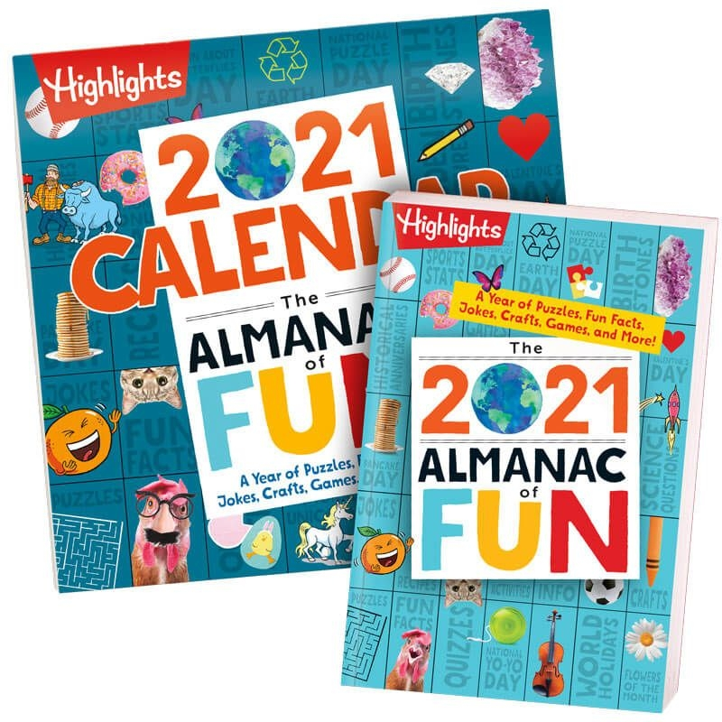2021 Almanac Of Fun Book Calendar Set | Highlights For