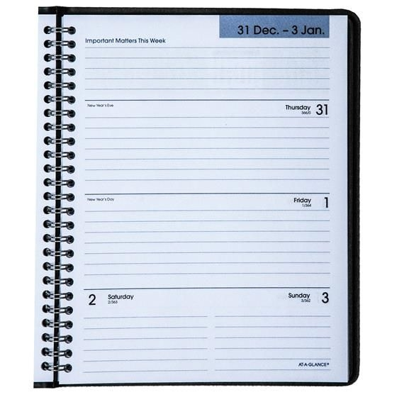 2021 At A Glance Dayminder G546 00 Weekly Monthly Planner